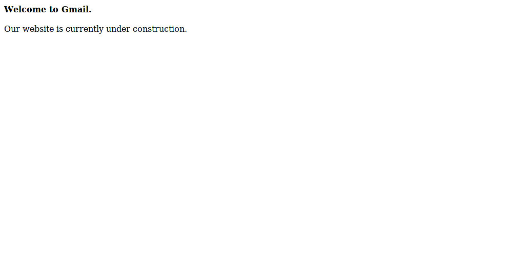 Gmail.es under construction