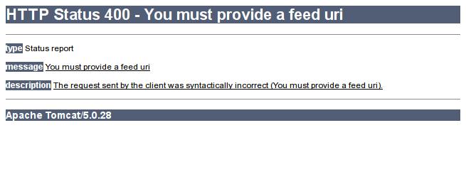 FeedBurner error