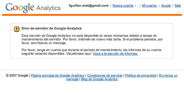 Google Analytics Mantenimiento