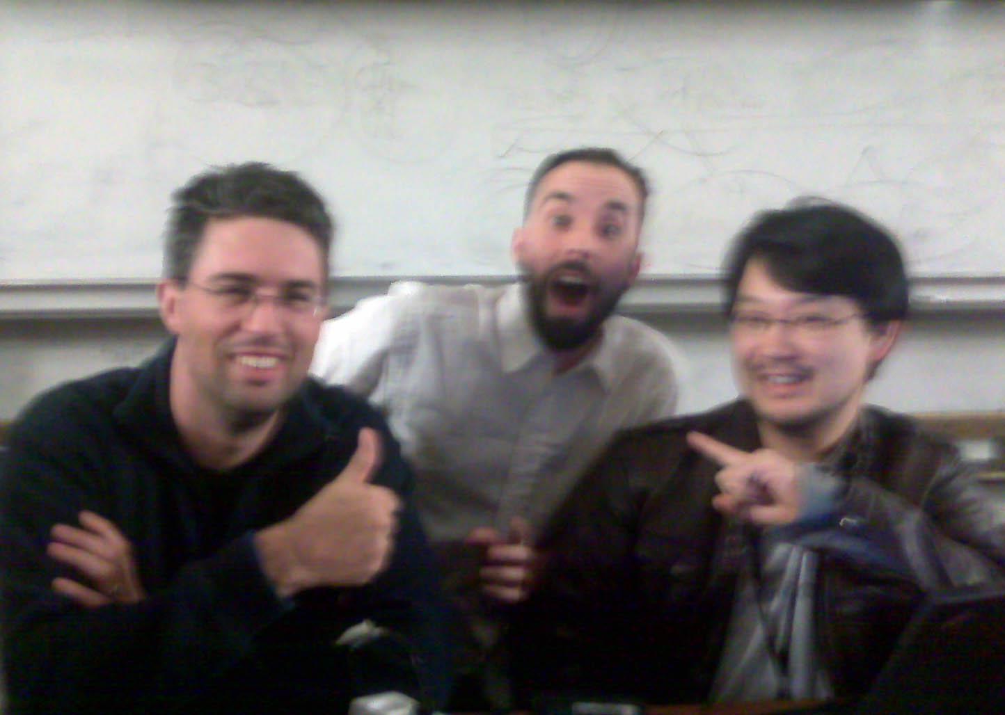 Foto con Dr Nic y Yukihiro 'Matz' Matsumoto